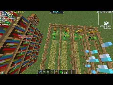 Minecraft моды выпуск 1 - Растения против Зомби!