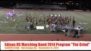 Edison High School Marching Band 2014 Program - The Grind - Old Bridge HS - 2014-11-08