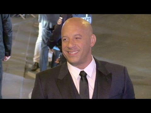 Superstar Vin Diesel promoting Fast and Furious 8 in Paris