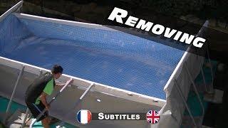 Demontage, pliage de ma piscine Intex Ultra Frame