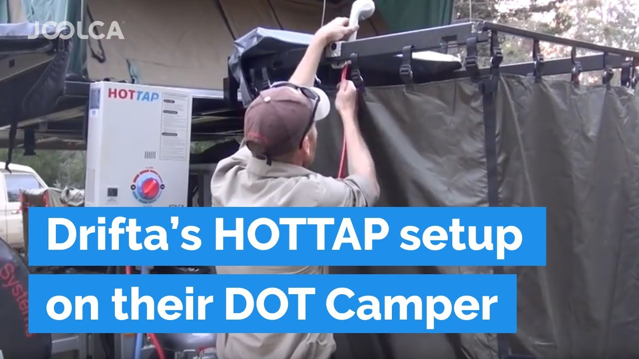 Drifta S Hottap Shower Setup On Their New Camper Trailer