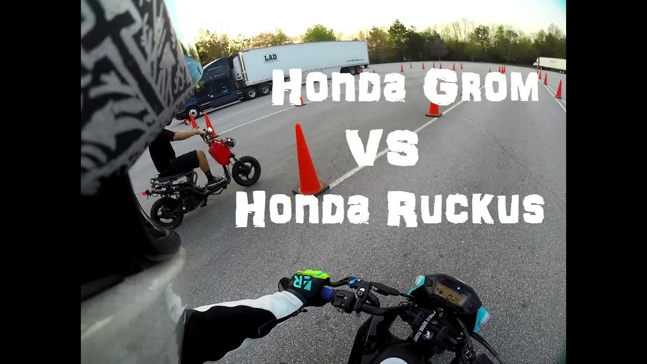 Honda Grom vs Honda Ruckus - YouTube