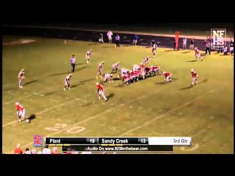 Sandy Creek QB Cole Garvin 8 yd play action pass