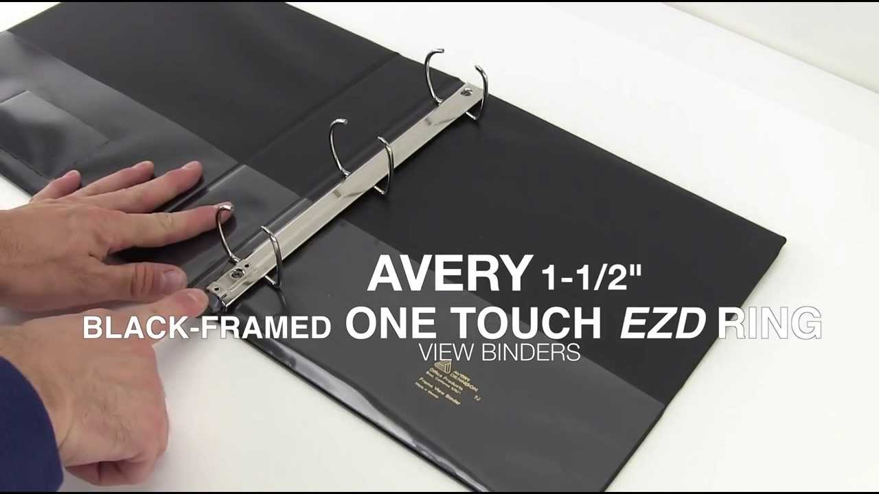 avery black framed one touch ezd ring view binder demo youtube