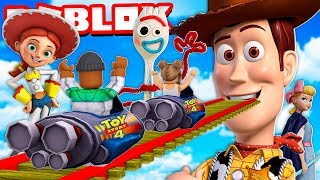 I rode a TOY STORY 4 ROLLER COASTER in Roblox!