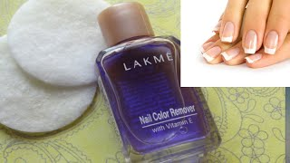 LAKME NAIL POLISH REMOVER REVIEW HOW TO CLEAN NAILS