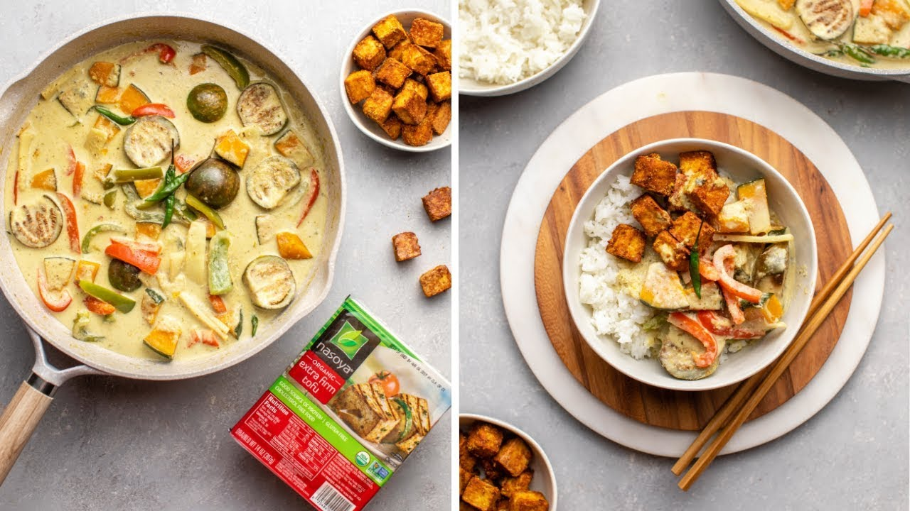 How to Make Thai Green Curry with Crispy Tofu