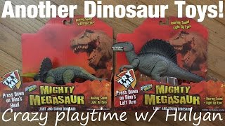 Mighty Megasaur Toys: Unboxing a Spinosaurus and Triceratops Dinosaur Toys