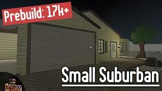 Building The PreBuild House (Small Suburban) | Roblox Bloxburg (Christmas)