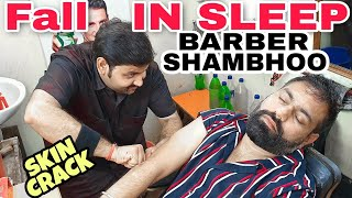Deep-Sleep head massage, Neck, EAR, SKIN Cracking |SHAMBHOO BARBER | ASMR #INDIANBARBER #Reikimaster