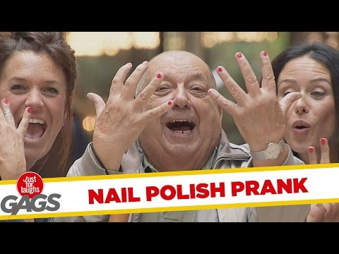Men Get Their Nails Painted Prank