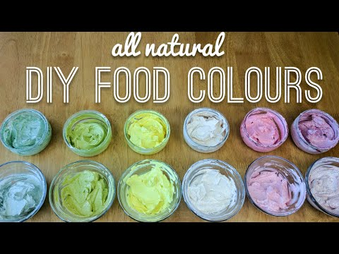 all natural DIY food colouring (coloring) tested in buttercream frosting - vegan - how to make