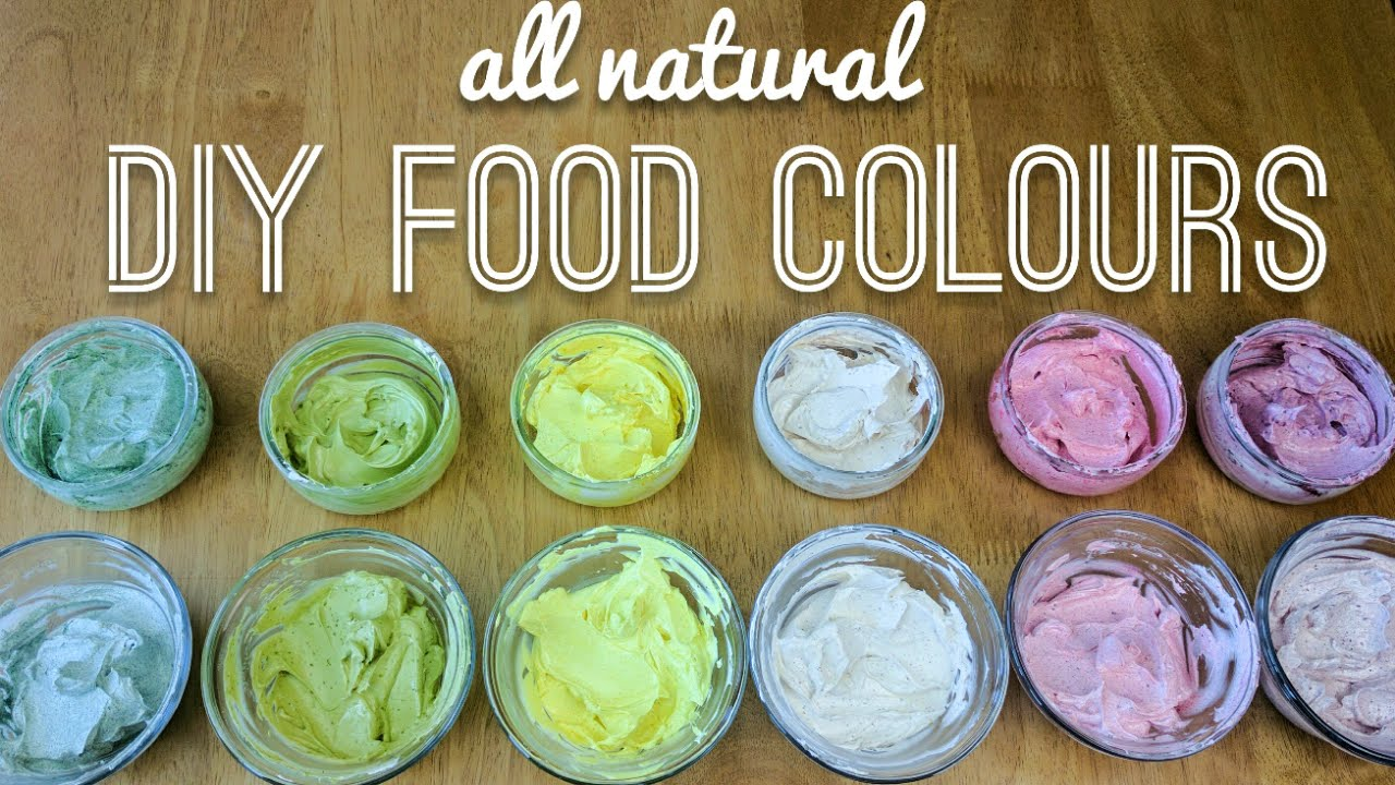 all natural DIY food colouring (coloring) tested in buttercream ...