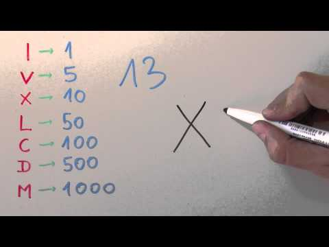 13 - Thirteen in Roman Numerals - How to write it