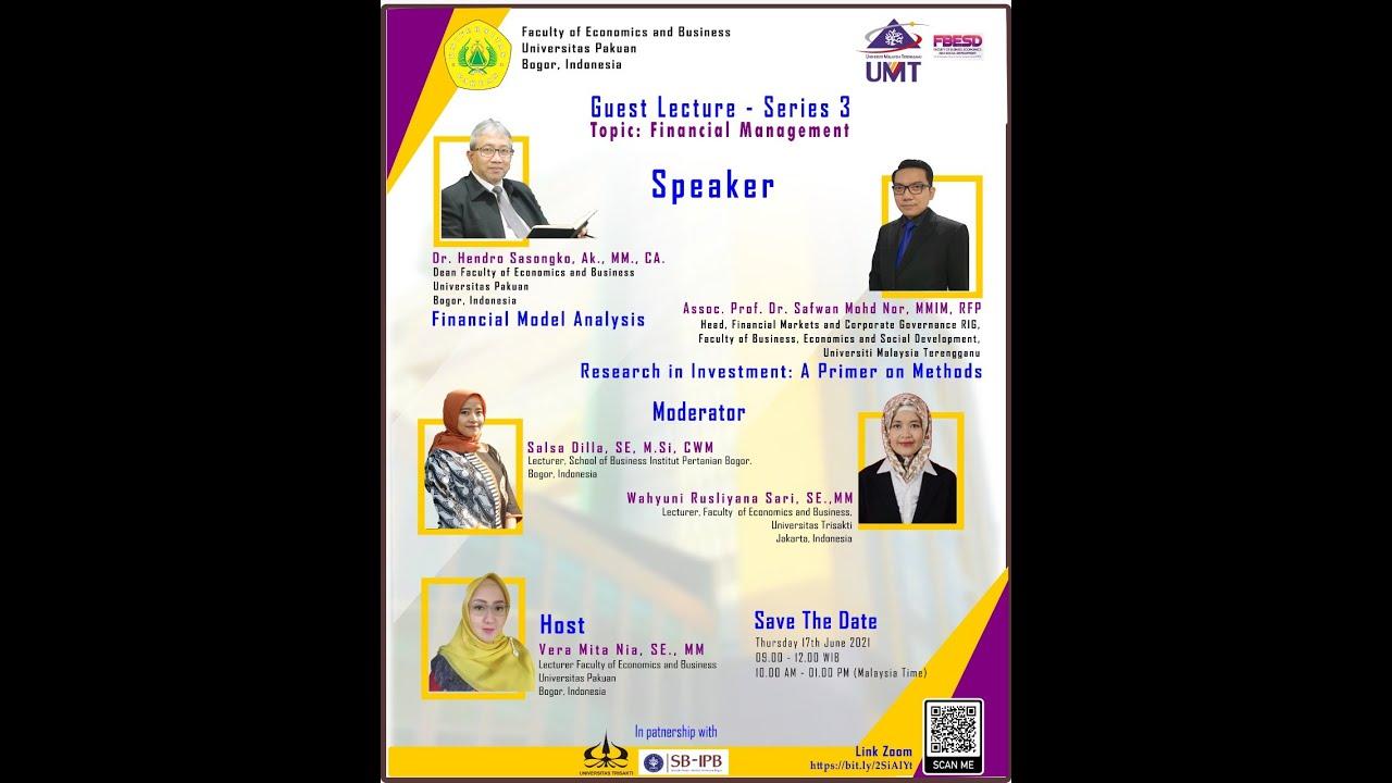 Webinar International | Guest Lecture Series 3: Financial Management