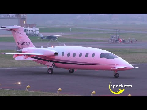 Piaggio P.180 Avanti M-GCAP - Beautiful Dusk Departure - Gloucestershire Airport