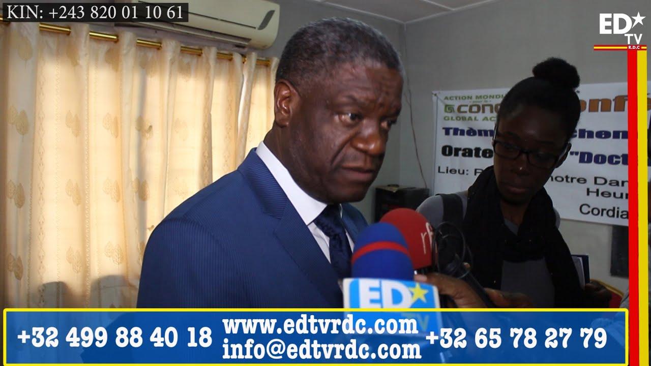 Dr. MUKWEGE: LES ELECTIONS SONT ENCORE POSSIBLE CETTE ANNEE 2016