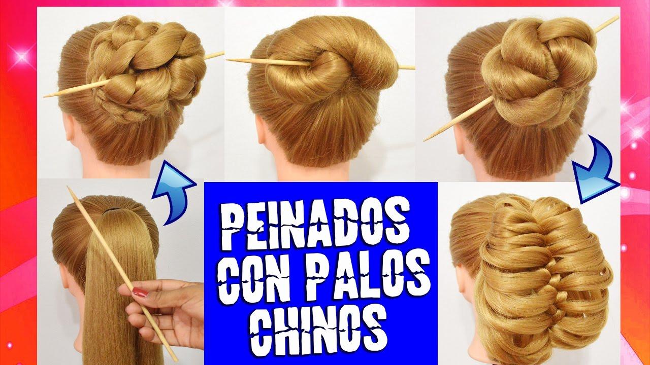 4 Peinados Con Palillos Chinos Para Cada Dia Faciles Y Rapidos Youtube