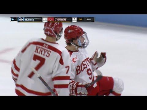 Highlights: Men's Ice Hockey Hockey East Quarterfinal vs. UCONN 3/10/2018