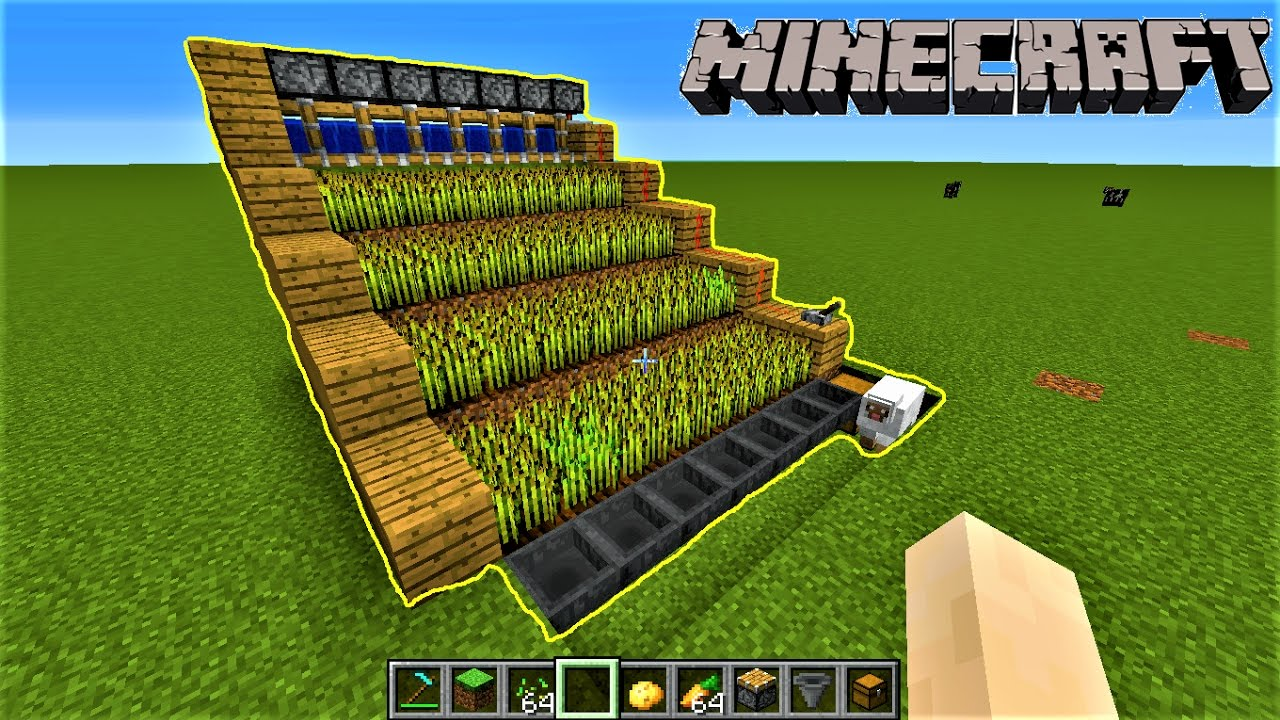 Minecraft  HOW TO MAKE AUTOMATIC FARM