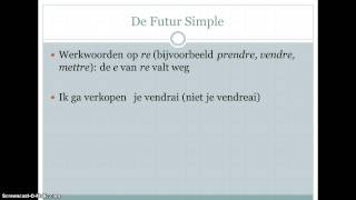 Futur Simple uitleg