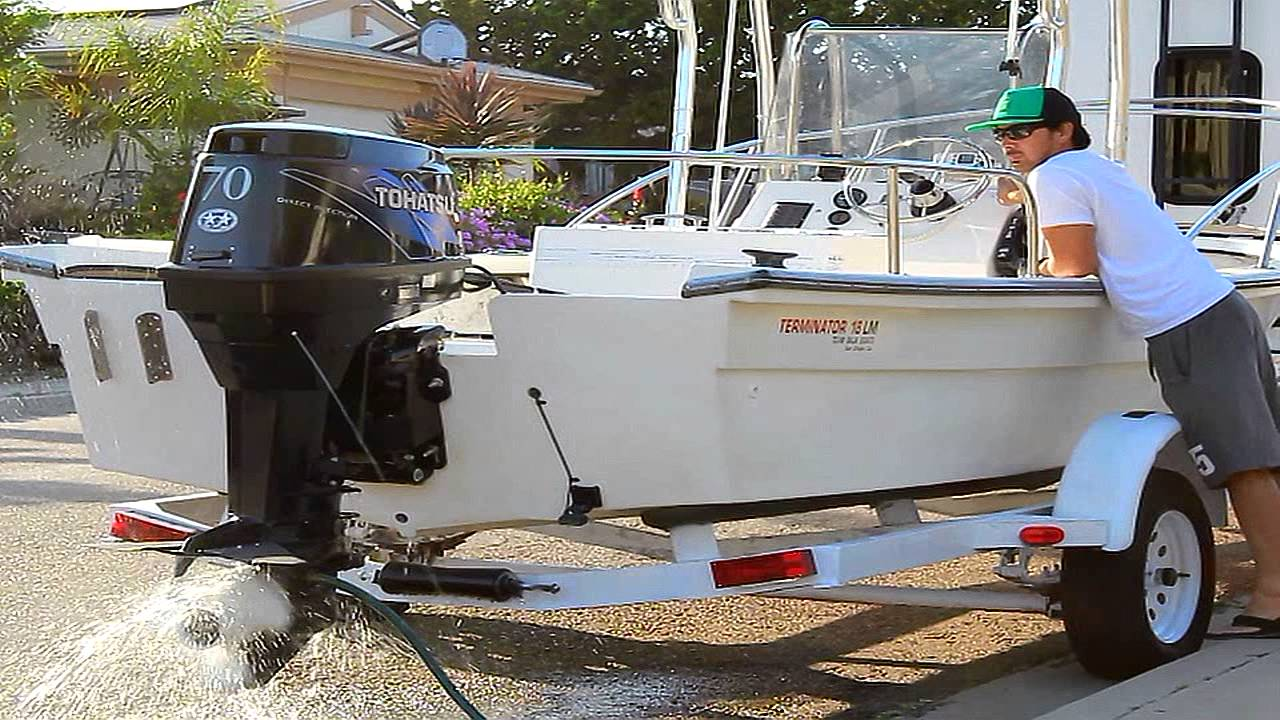 2007 TLDI Tohatsu 70hp Outboard Team Baja Center Console