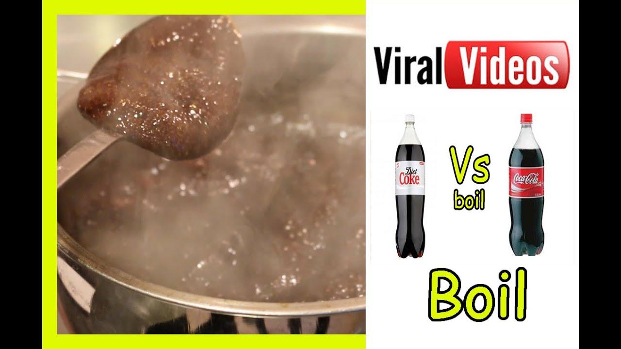 Diet Coke boiled VS Coke boiled - YouTube