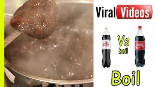 Diet Coke boiled VS Coke boiled