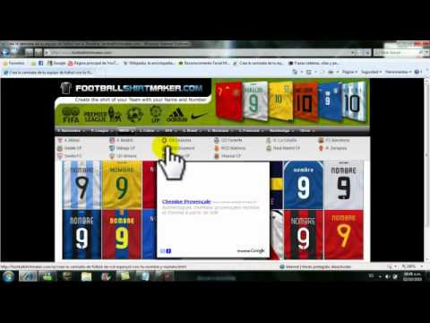 Como Crear Camisetas De Futbol Sin Descargar Nada - YouTube 34c52b870cd52