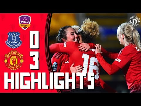 Highlights | Everton Ladies 0-3 Manchester United Women | Continental Tyres Cup