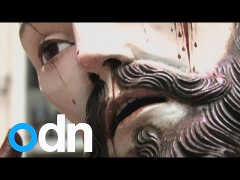 Human teeth found in 18th century Mexican Christ statue