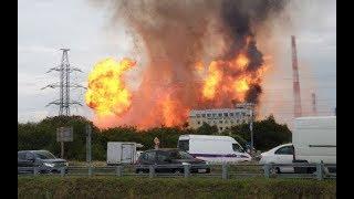 ТЭЦ Северная горит в Мытищах heat power station north burns in Mytishchi