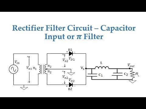rectifier filter capacitor input or filter youtube. Black Bedroom Furniture Sets. Home Design Ideas