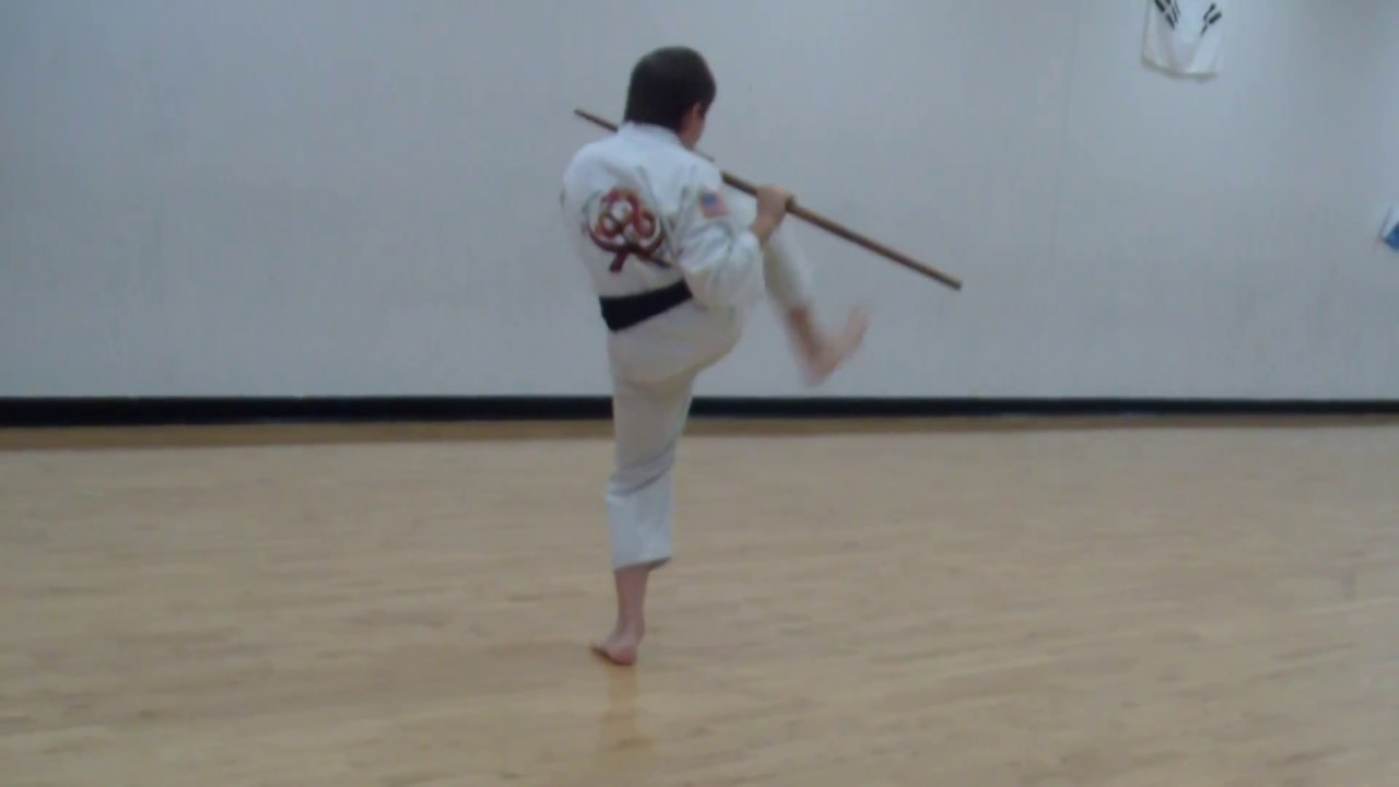 Tang Soo Do Staff Form 1, Bong Hyung Il Bu, Weapons, Fast and Slow motion
