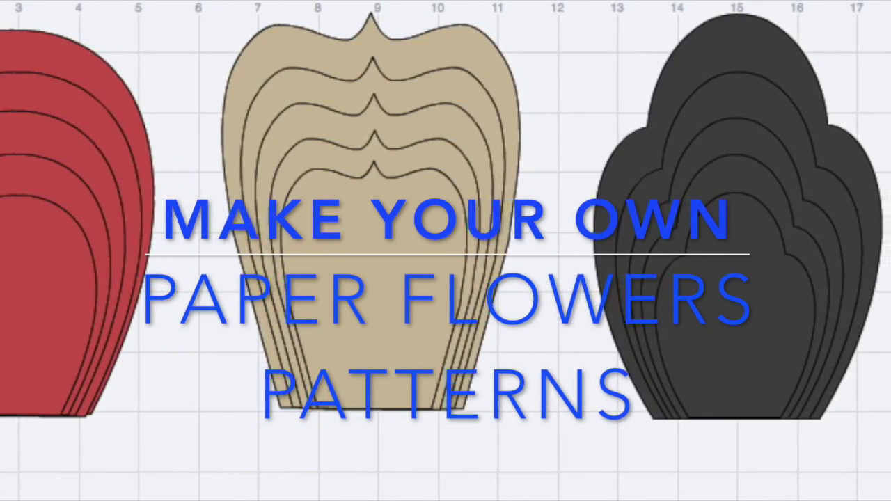Make your own paper flowers pattern in design space youtube make your own paper flowers pattern mightylinksfo