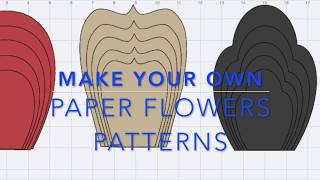 Make your own Paper Flowers Pattern in Design Space