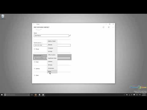 Using the People app to Manage an Address Book in Windows 10