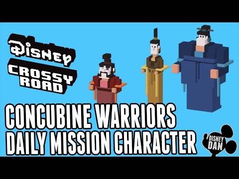 Disney Crossy Road Mulan Daily Mission Characters - Concubine Warriors