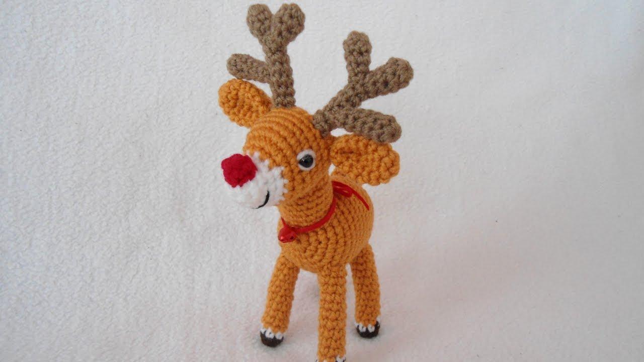69dd3acbcd5 Reindeer crochet tutorial - YouTube