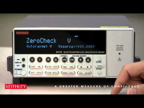 How to Setup the Model 6517B Electrometer for a Staircase Voltage Sweep
