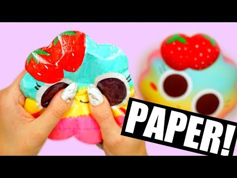 DIY PAPER SQUISHY | How to make a squishy without foam