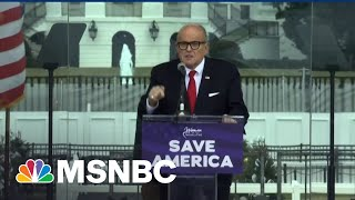 After Raid, Giuliani Literally Goes Nixon: 'I'm Not A Crook!' | The Beat With Ari Melber | MSNBC