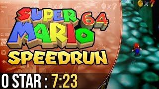 Super Mario 64 0 Star Speedrun in 7:23