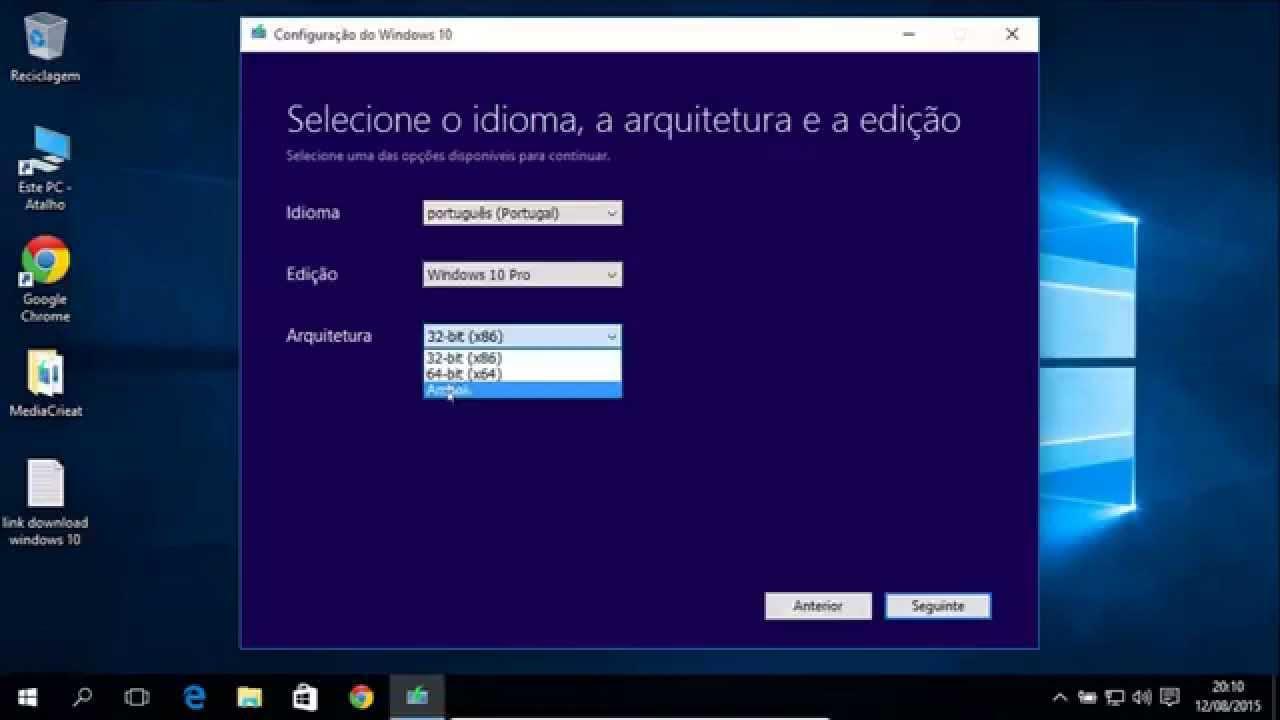 Como baixar windows 10 pt- pt ou pt- br 32- 64 bits - YouTube