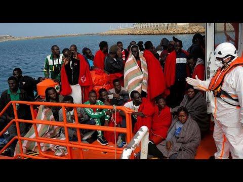 Mais de duas centenas de migrantes resgatados no Estreito de Gibraltar