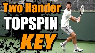 Two Handed Backhand Topspin Key