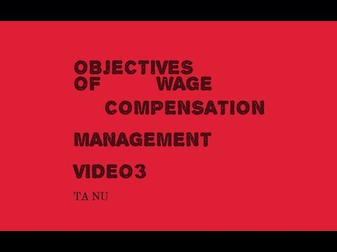 objectives of wage/human resource management/compensation management