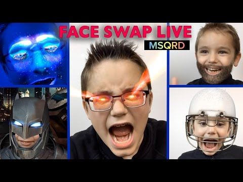 ON CHANGE DE VISAGE #2 ! Face Swap Live - Appli MSQRD Masquerade