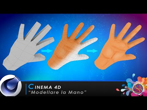 "TUTORIAL CINEMA 4D ""Modellare La mano"""