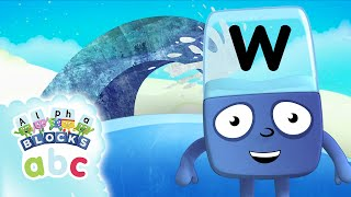 Alphablocks  - Meet Wonder W! | Phonics | Learn To Spell